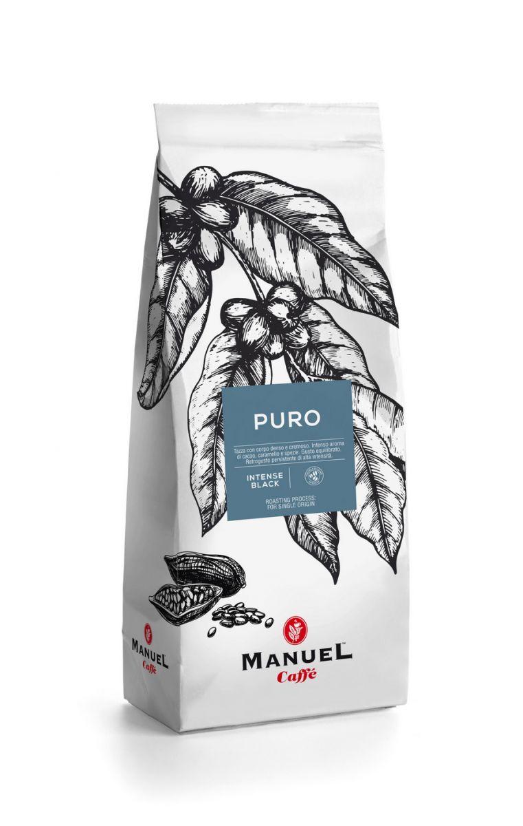 Manuel Caffe Puro 80% robusta, 20% arabica szemes kávé 500 gr