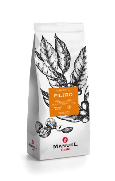Manuel Caffe Filtro Intense 40% arabica őrölt kávé 500 gr