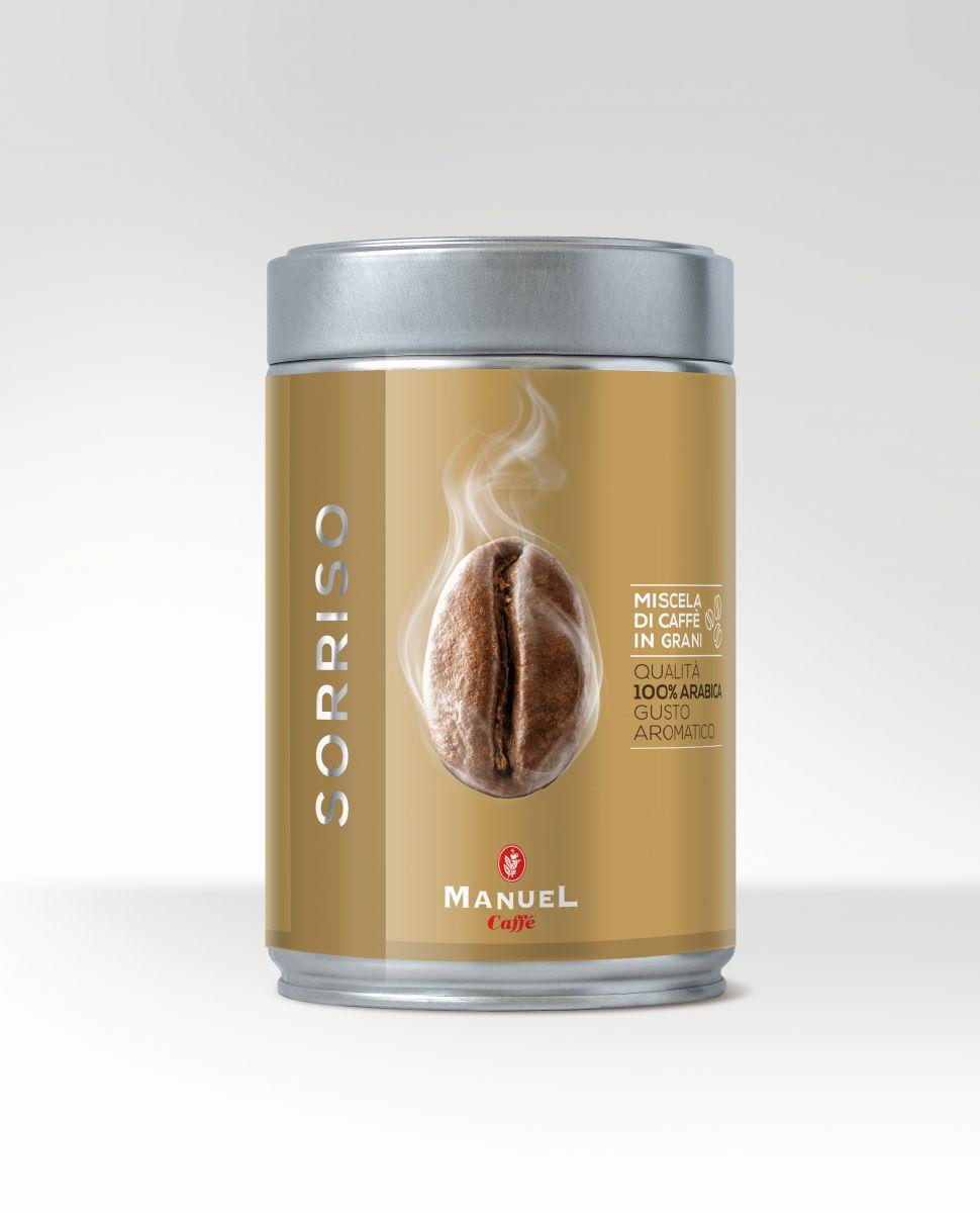 Manuel Caffe Sorriso 250 gr - 100% arabica szemes kávé