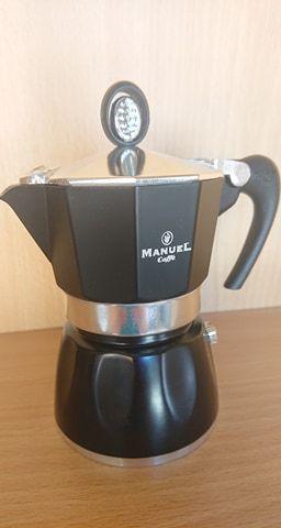 Egyszemélyes kotyogós kávéfőző (fekete)