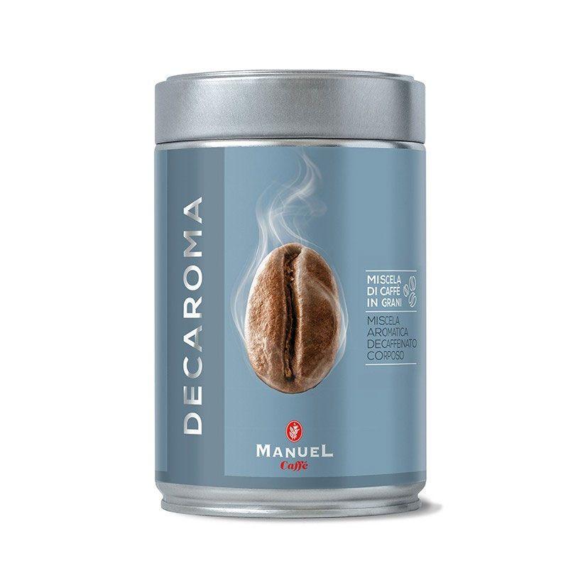 Manuel Caffe Decaroma 250 gr - koffeinmentes szemes kávé