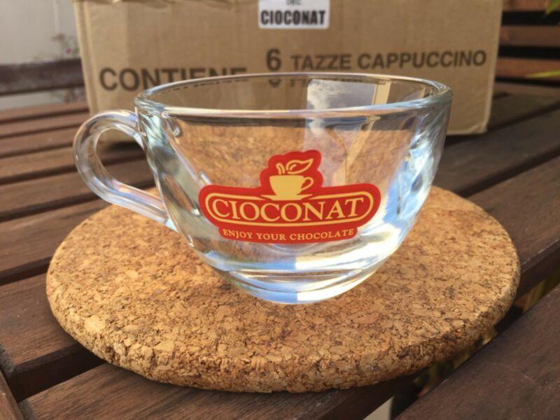 Kifutó termék: Cioconat üveg forró csokoládés / cappuccino-s csésze, alátéttel