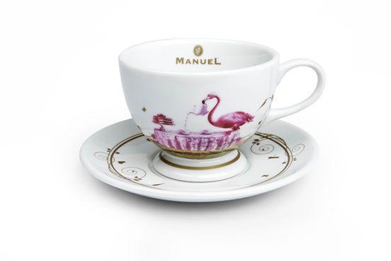 Porcelán teás csésze, alátéttel (kicsi)